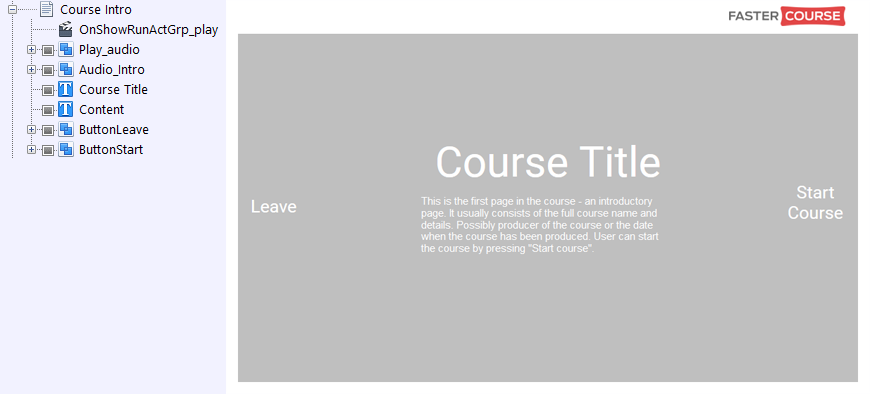 FasterCourse City Template Course Intro page