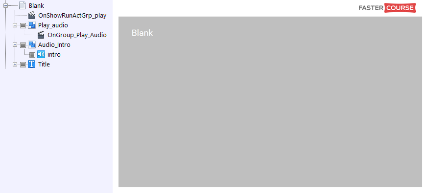 FasterCourse City Template Blank page