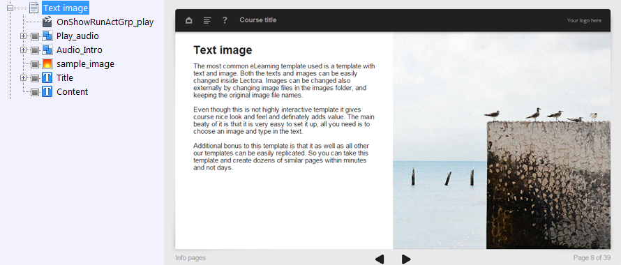 FasterCourse Oceanside Template Text Image page