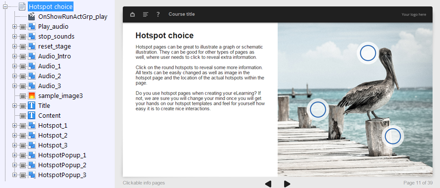 FasterCourse Oceanside Template Hotspot Choice page