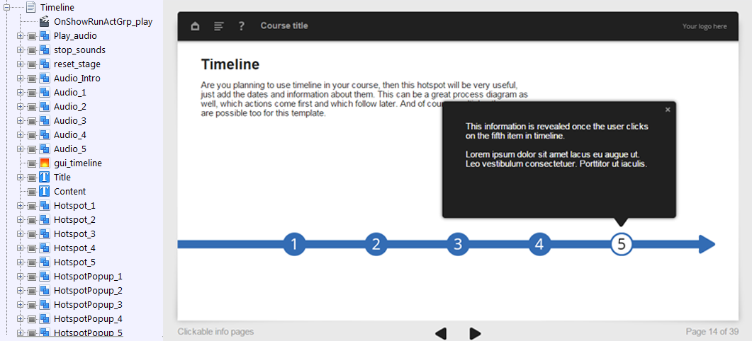 FasterCourse Oceanside Template Timeline page