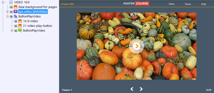 FasterCourse Countryside Template Video page