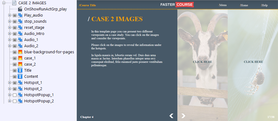 FasterCourse Countryside Template Case 2 Images page