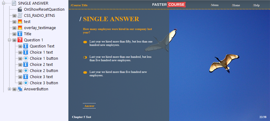 FasterCourse Countryside Template Single Answer page