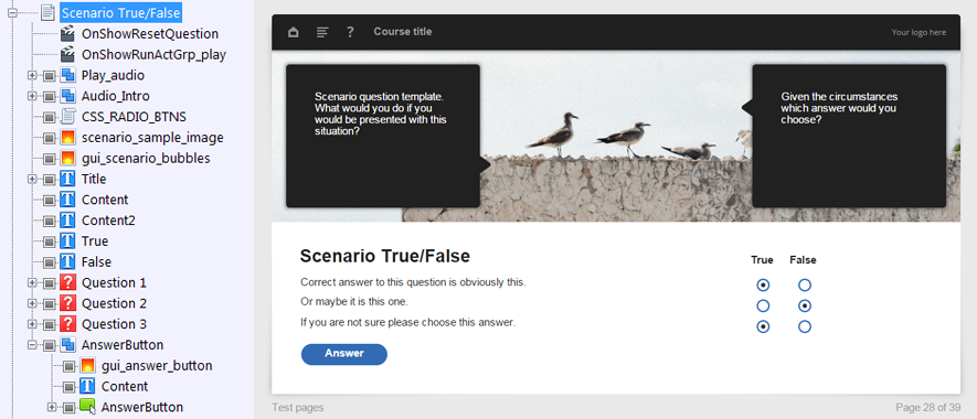 FasterCourse Oceanside Template True or False page