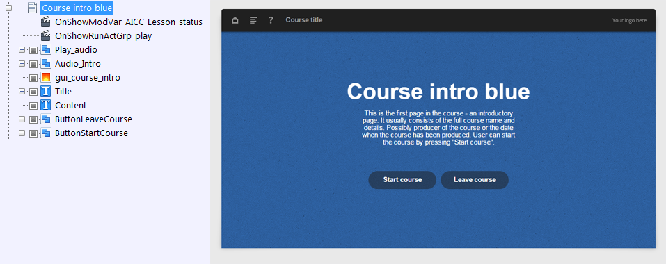 FasterCourse Oceanside Template Course intro page