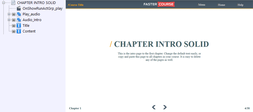 FasterCourse Countryside Template Chapter Intro page