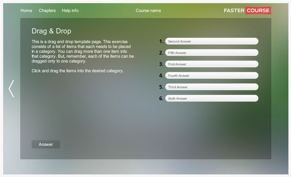 Articulate Storyline City Guide Drag and Drop Preview