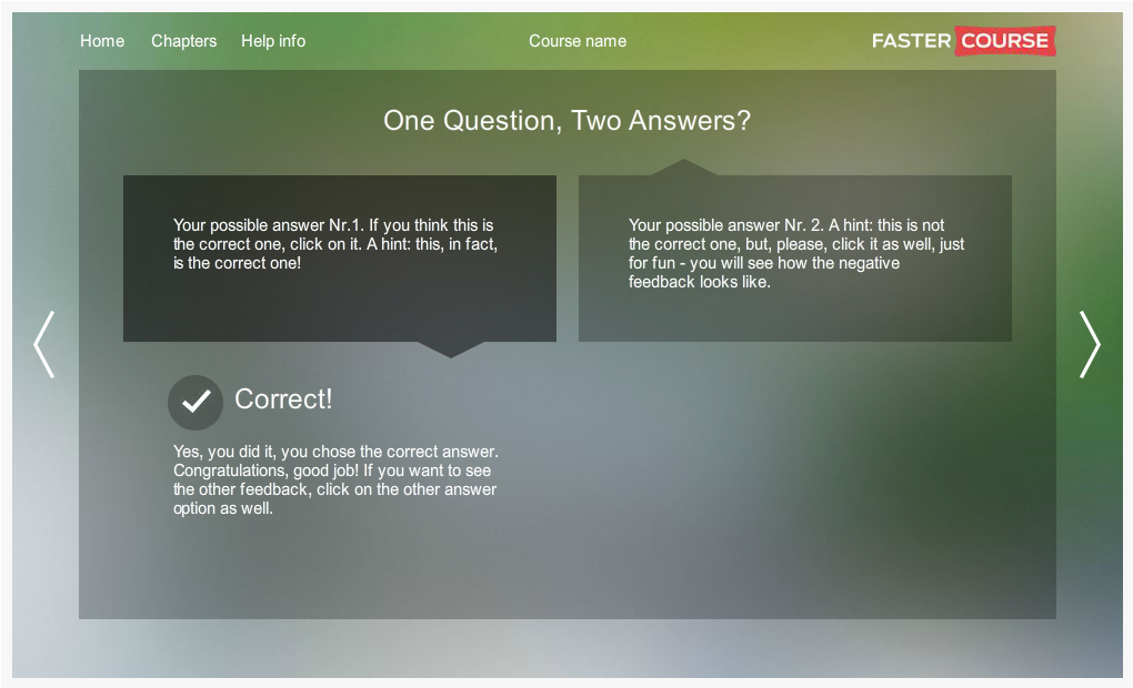 Articulate Storyline City Guide 1Question 2Answers Preview