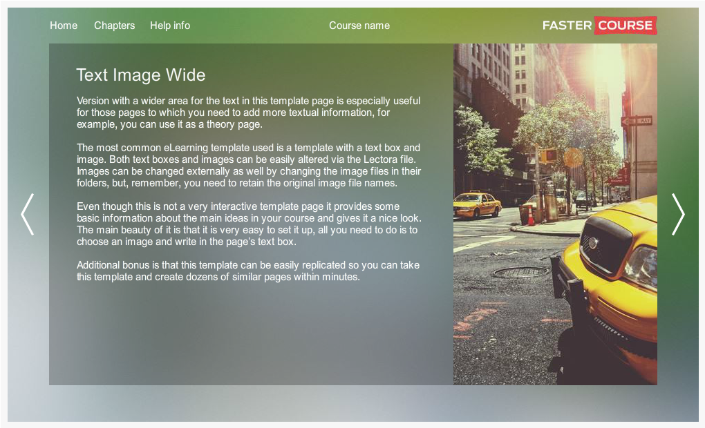 Articulate Storyline City Guide Text Image Wide Preview