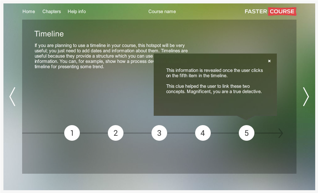 Articulate Storyline City Guide Timeline Preview