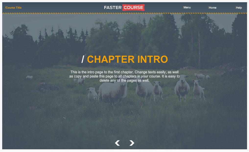 Articulate Storyline Countryside Guide Chapter Intro Preview