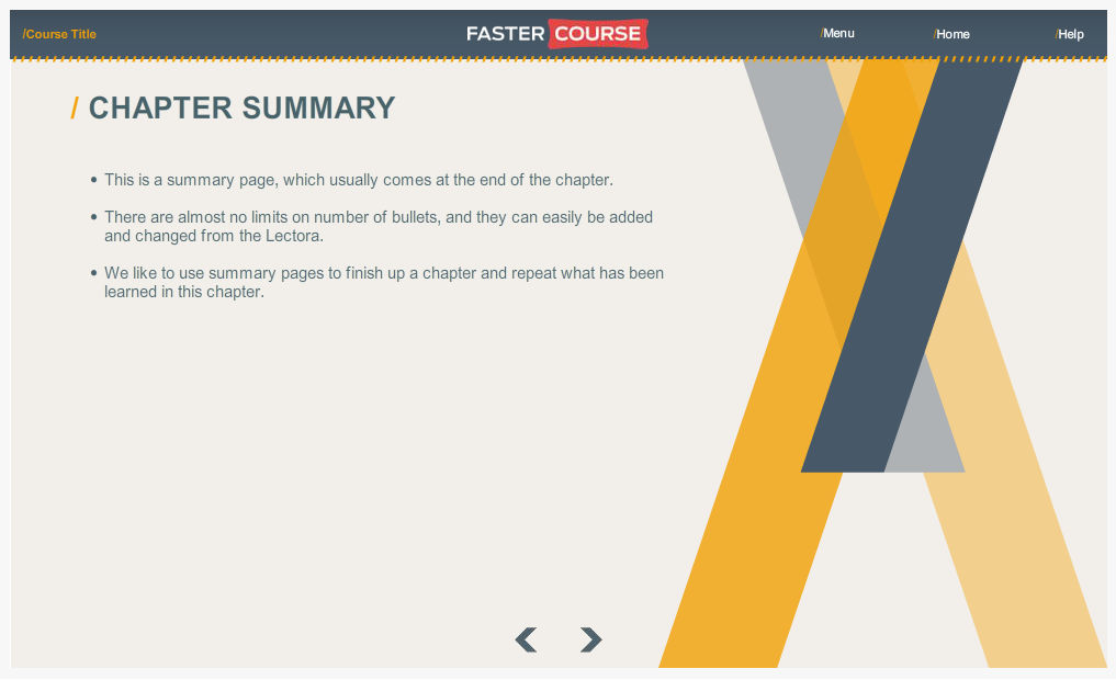 Articulate Storyline Countryside Guide Chapter Summary Preview