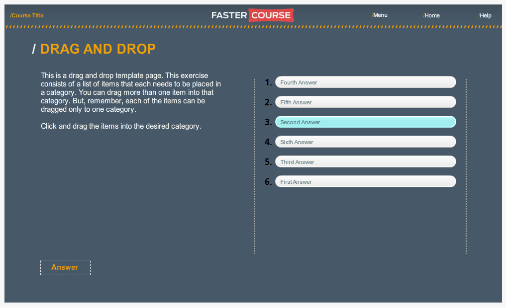 Articulate Storyline Countryside Guide Drag and Drop Preview