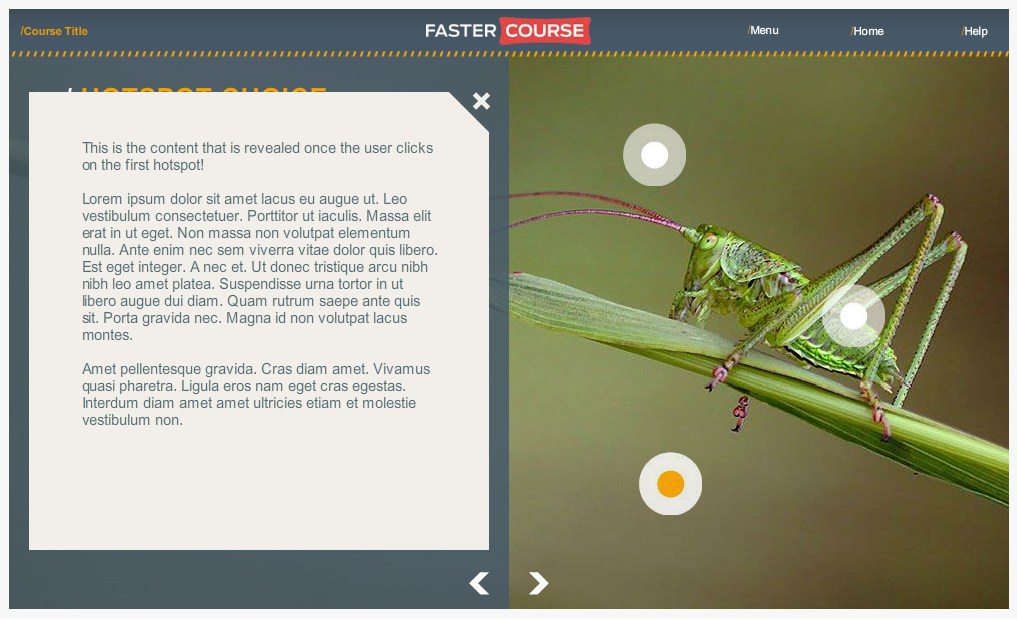 Articulate Storyline Countryside Guide Hotspot Choice Selected Preview