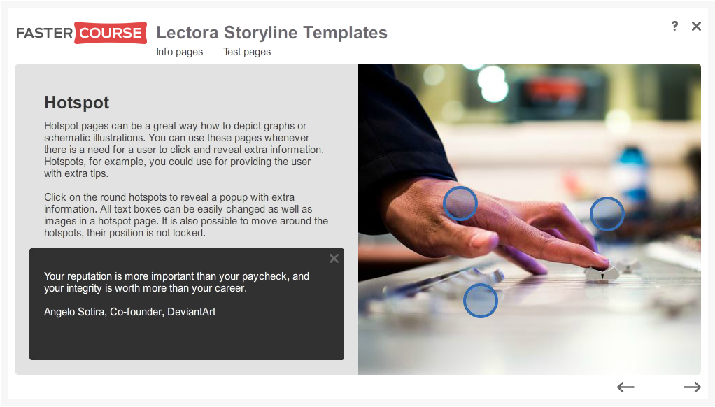 Articulate Storyline Free Guide Hotspot Clicked Preview