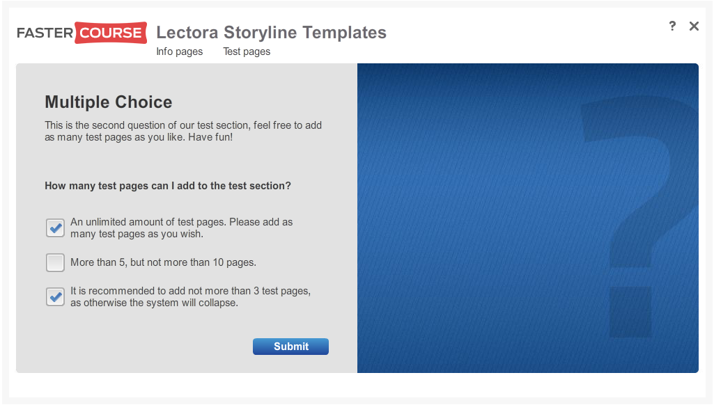Articulate Storyline Free Guide Test Multiple Choice Preview