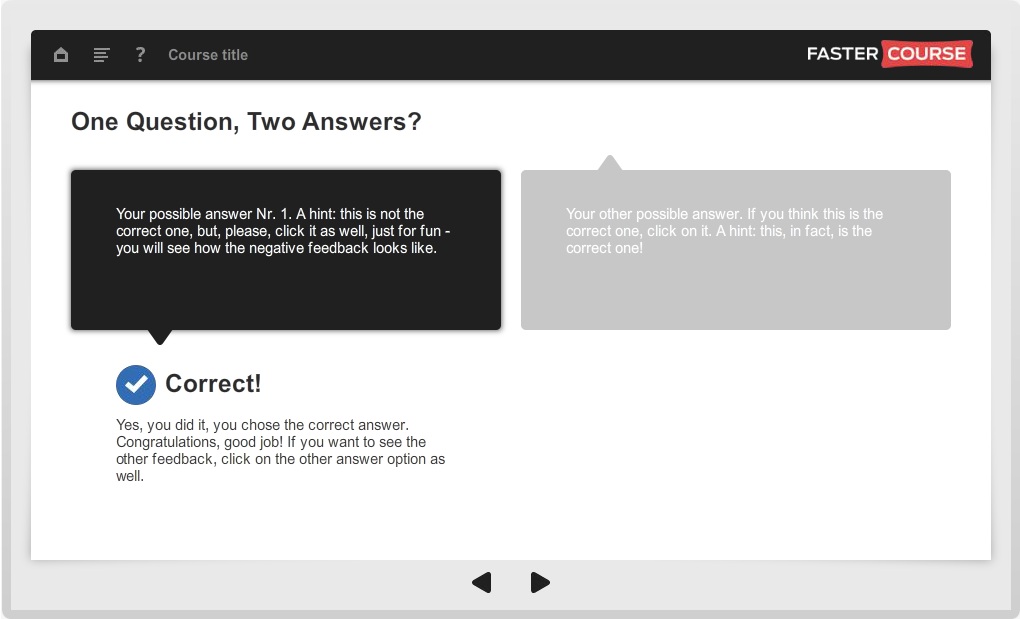 Articulate Storyline Guide 1Question 2Answers Preview