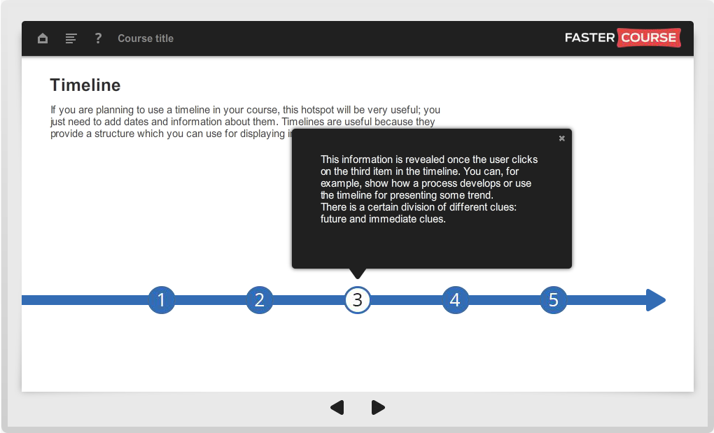 Articulate Storyline Guide Timeline Preview
