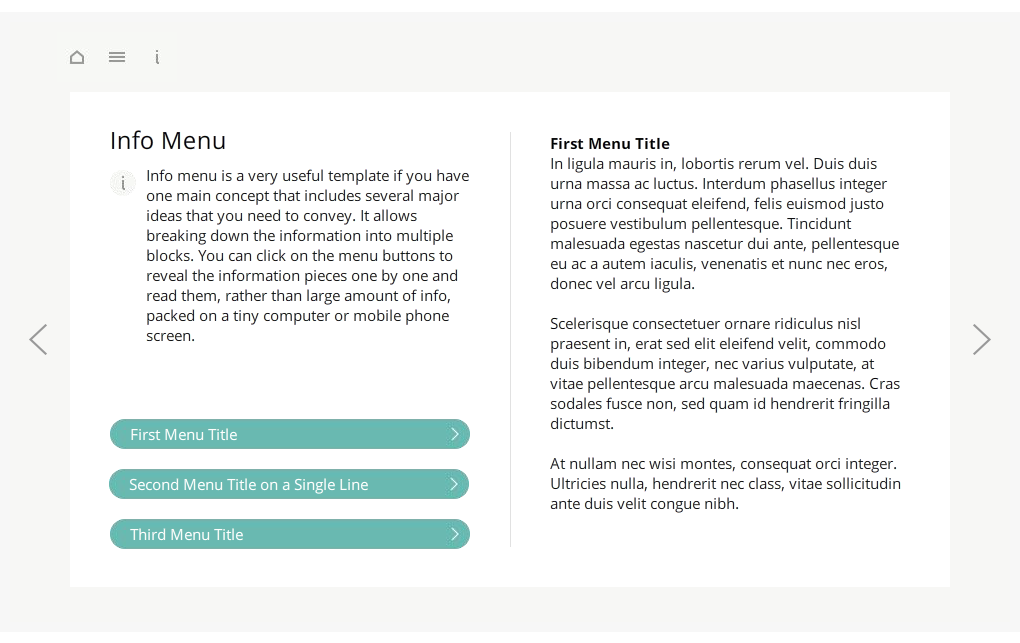 Articulate Storyline StartUp Guide Info Menu Selected Preview