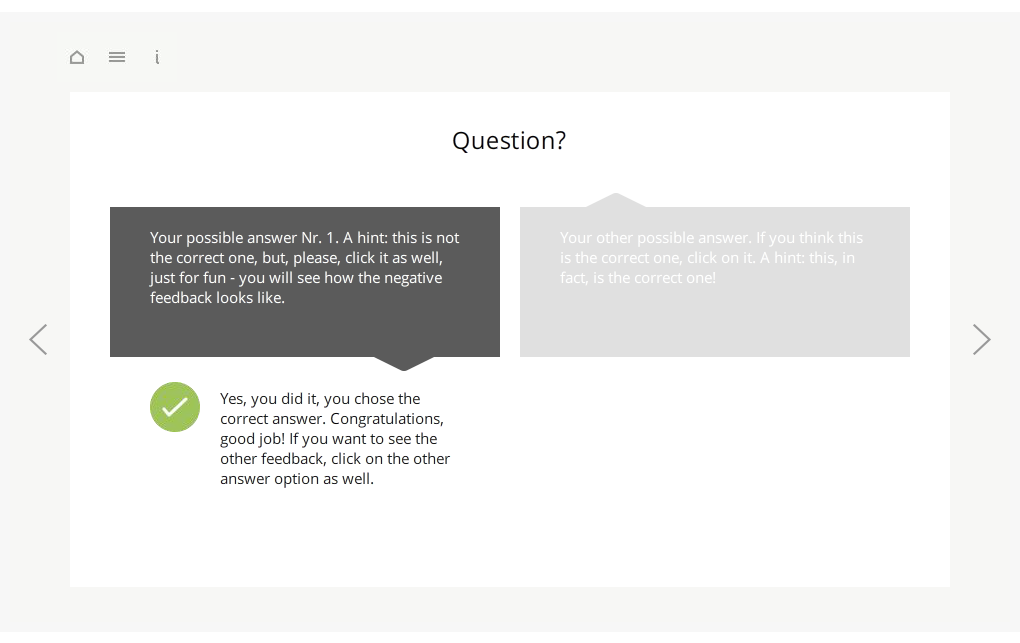 Articulate Storyline StartUp Guide 1Question 2Answers Preview