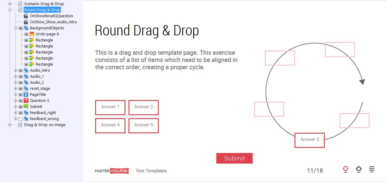 Round Drag & Drop