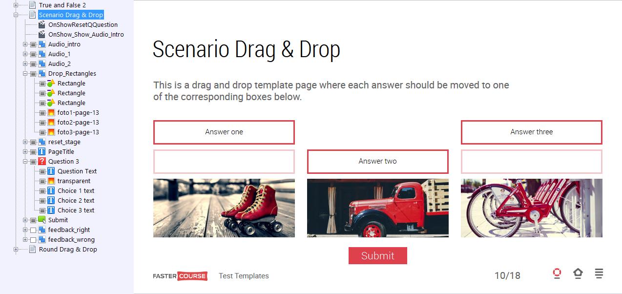 Scenario Drag & Drop